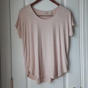 St. Tropez West Blush Pink Oversized Top Size M